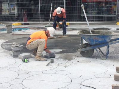 Paving The Plaza 19 October 2016