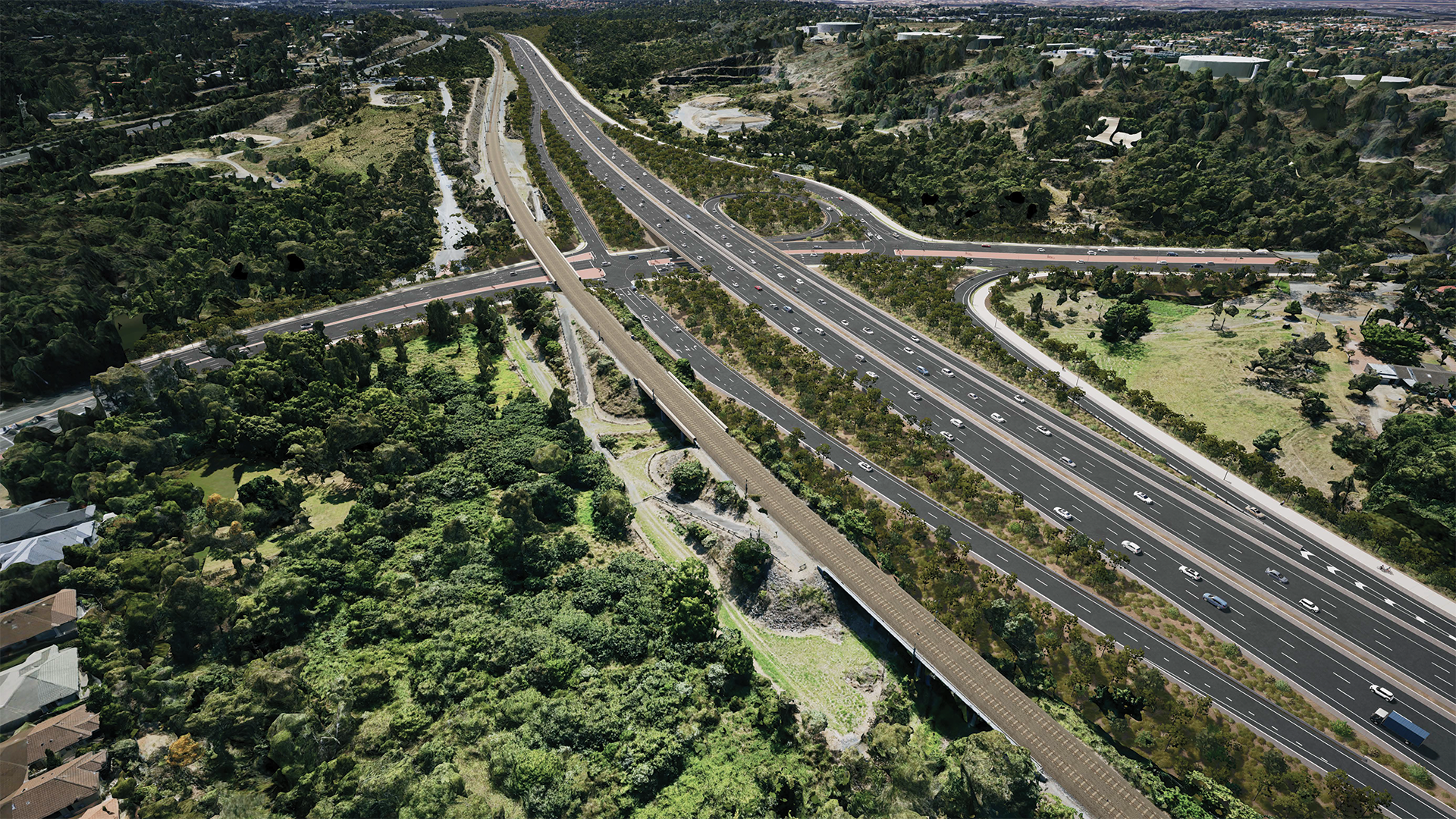 Coomera Connector Southport-Nerang Road interchange