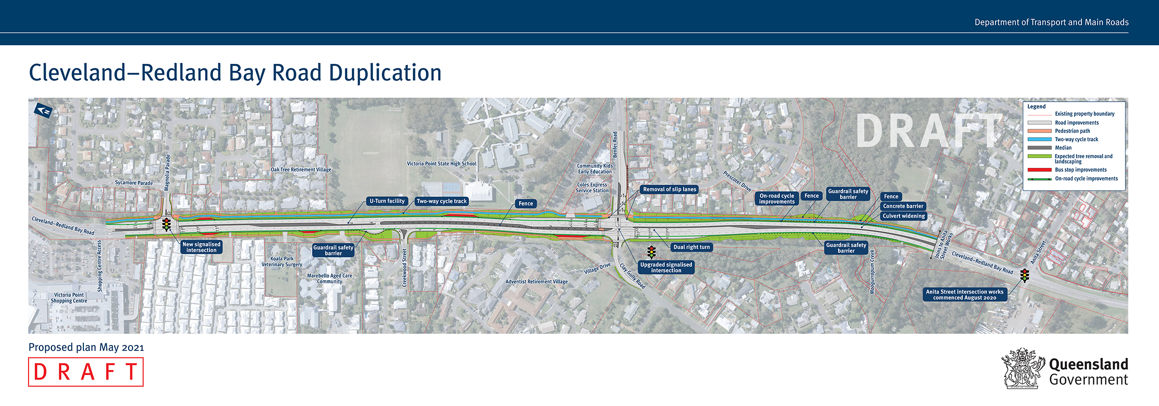 Cleveland-Redland Bay Road design