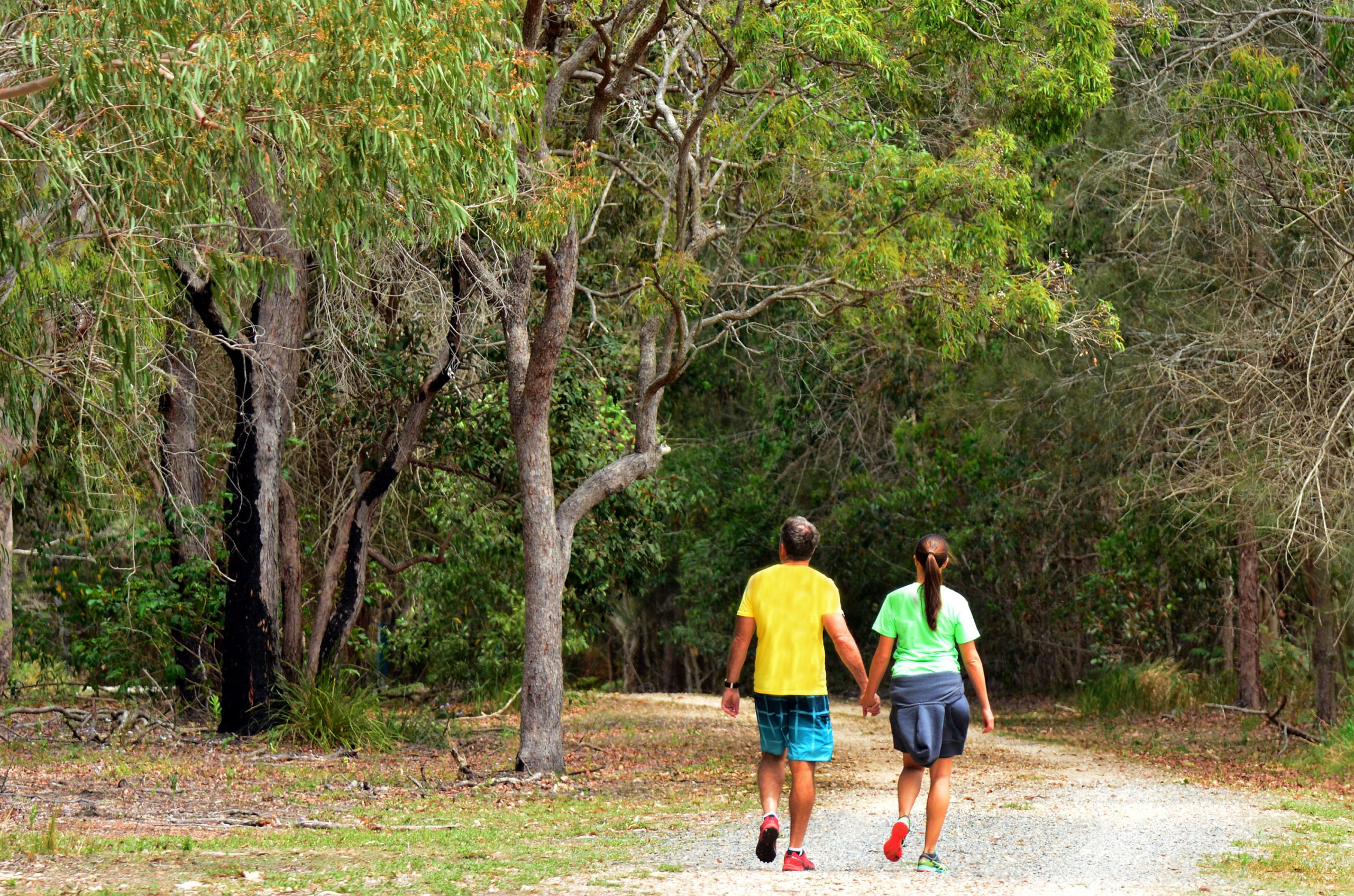 People walking in Coombabah Lake Conservation Park
