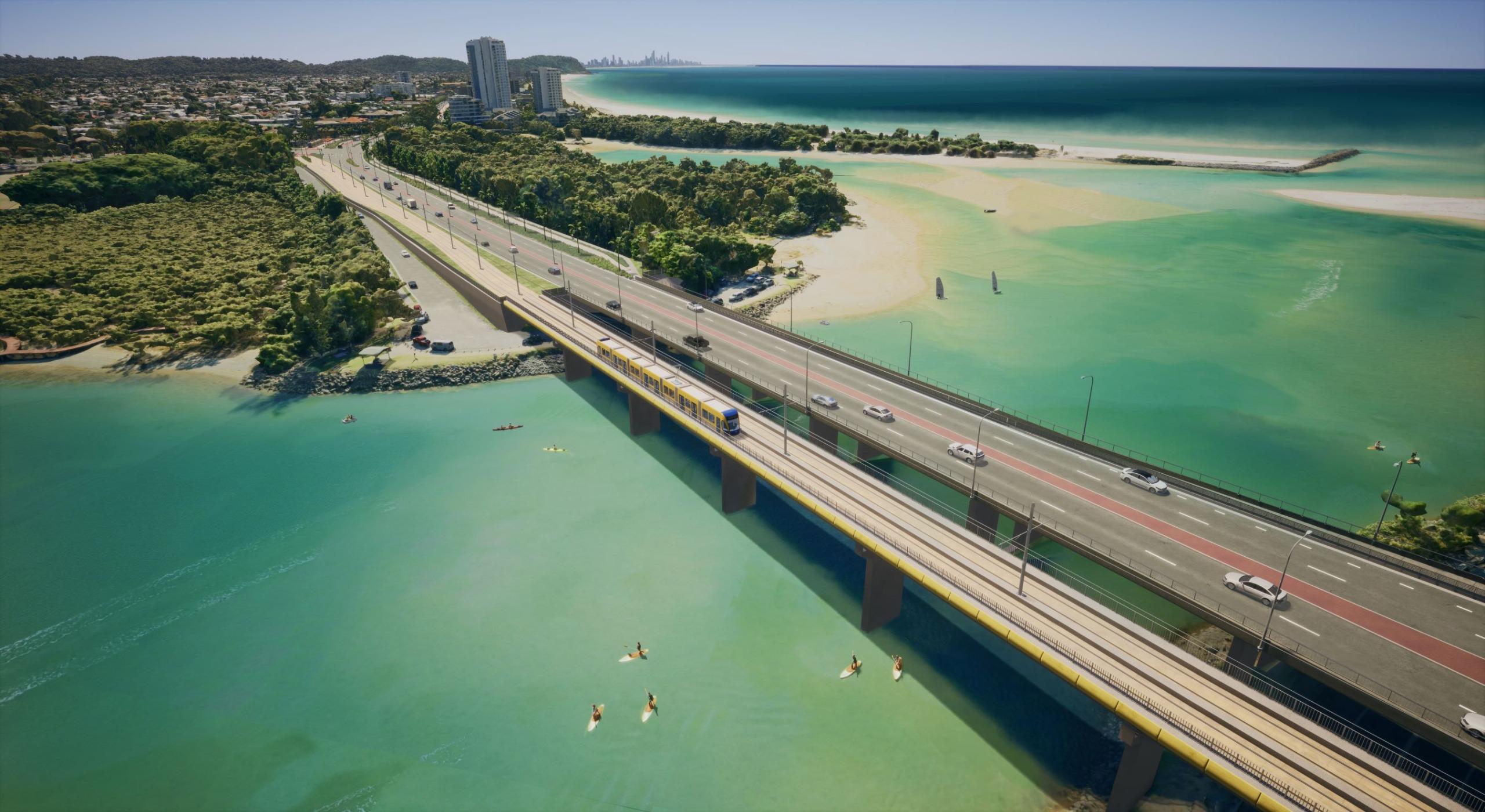 Gold Coast Highway bridge over Currumbin Creek