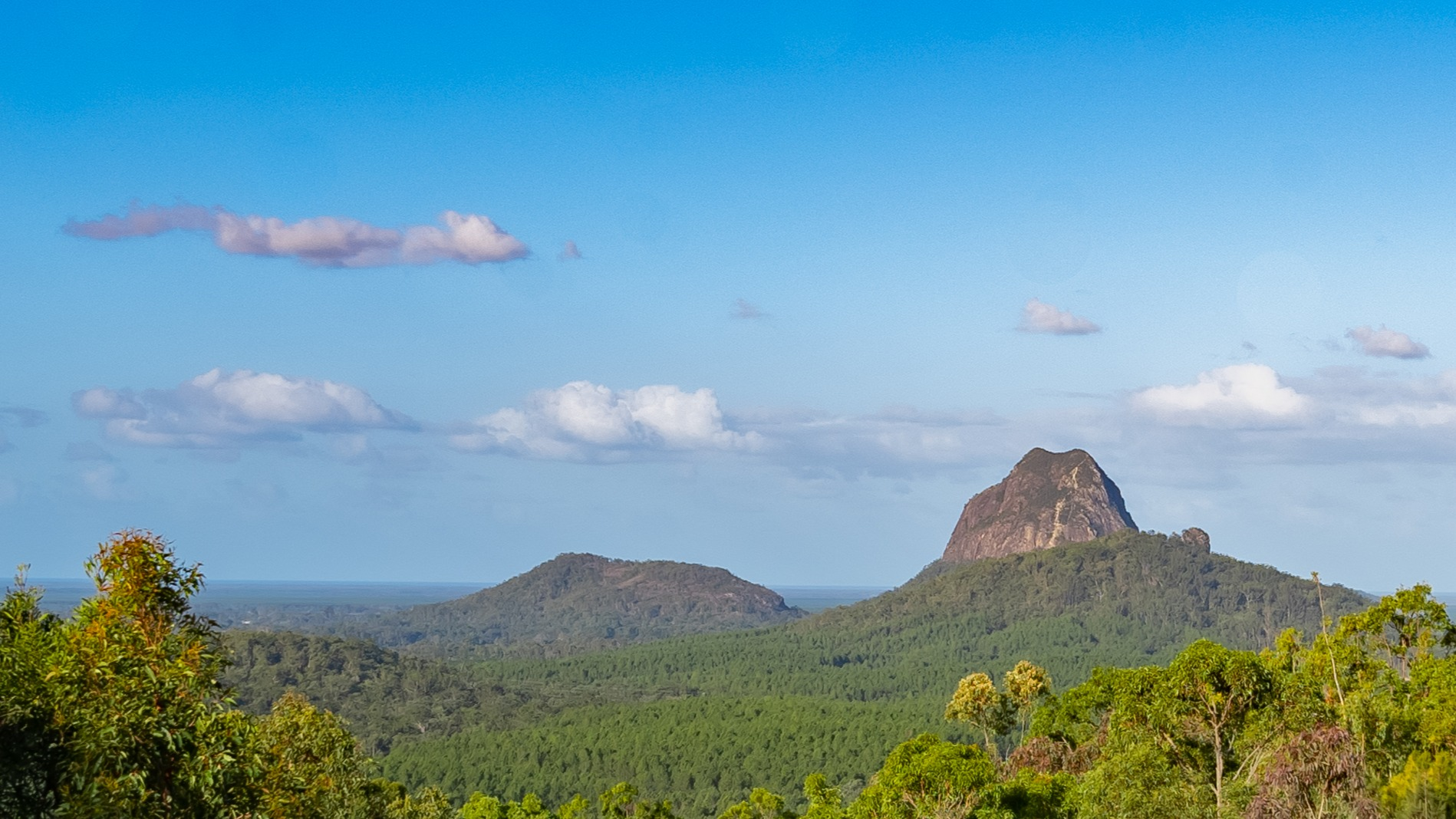 View of the Glasshouse Mountains