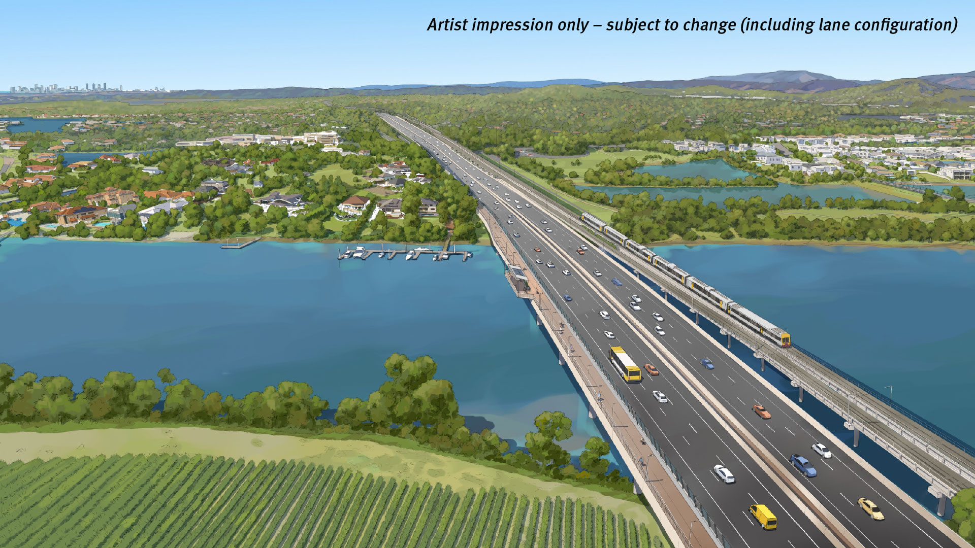 Coomera River bridge