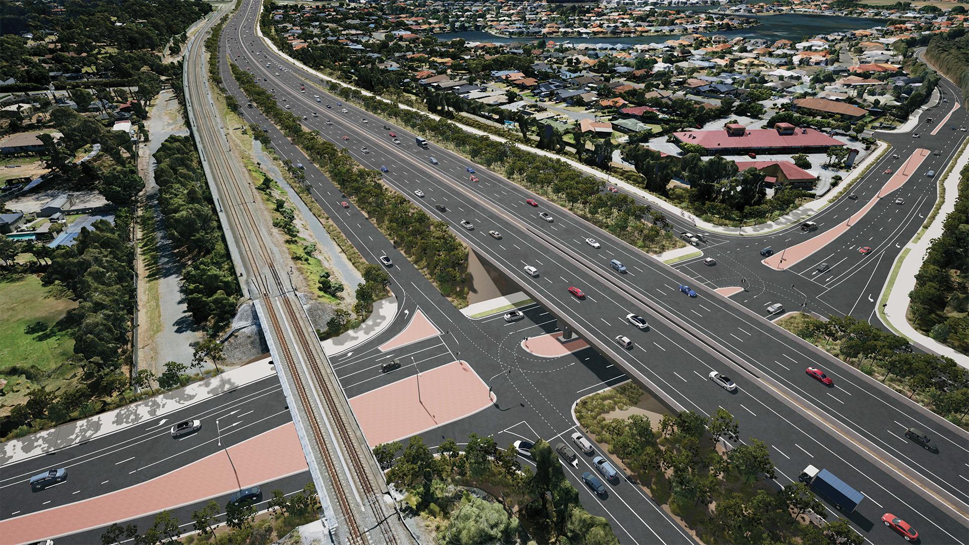 Coomera Connector Helensvale Road interchange