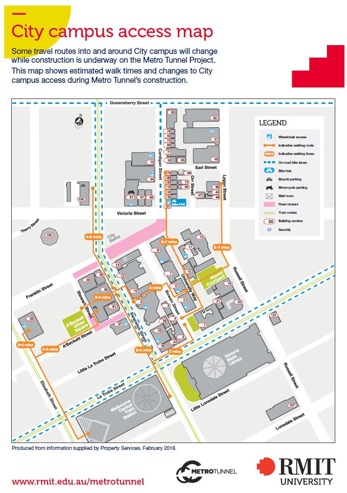 City campus access map
