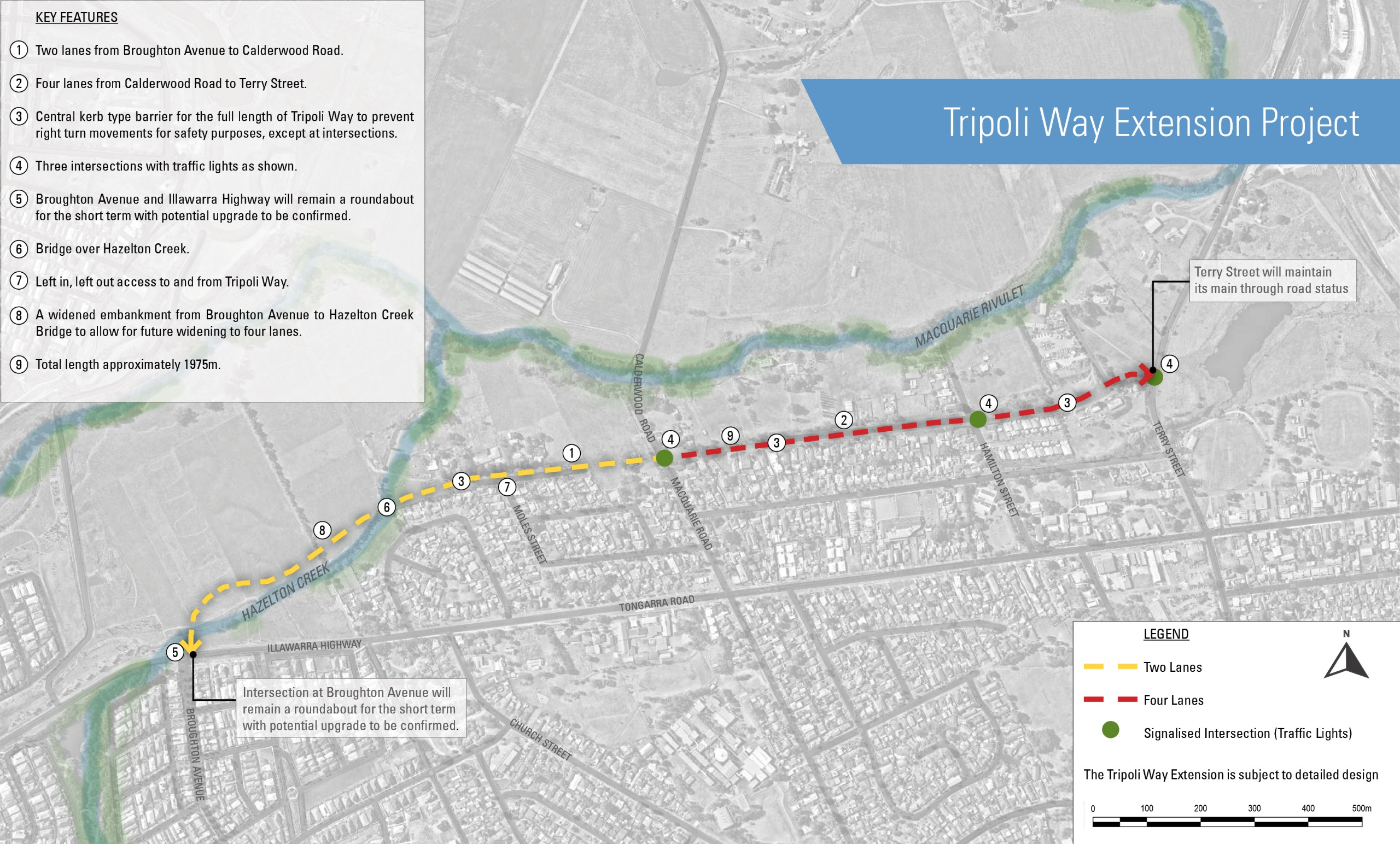 Proposed Tripoli Way Extension