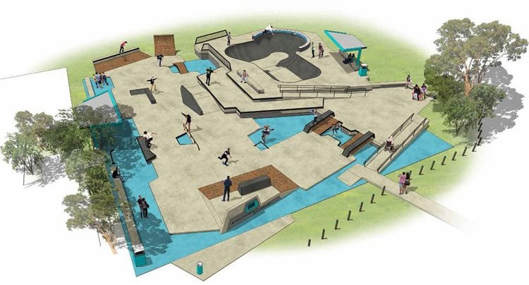 Skate park concept design plan