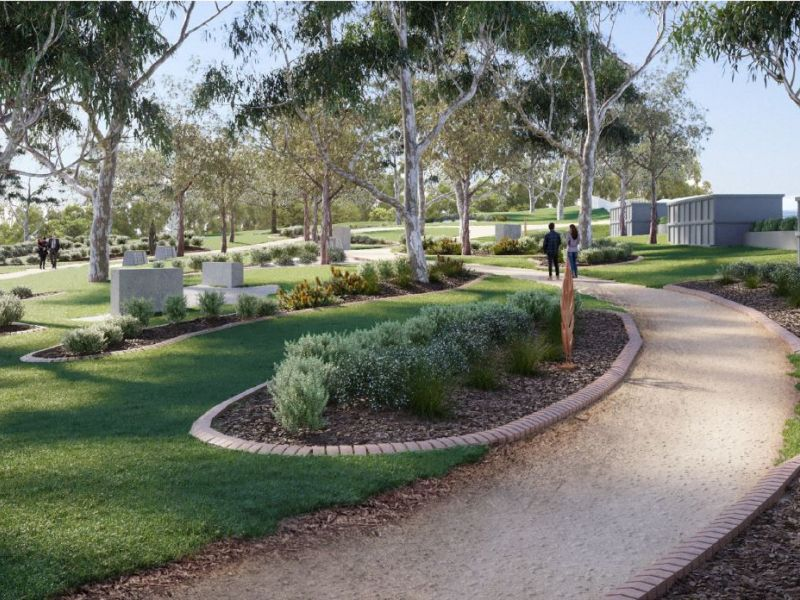 Indicative Perspective Memorial Garden, Shellharbour Cemetery