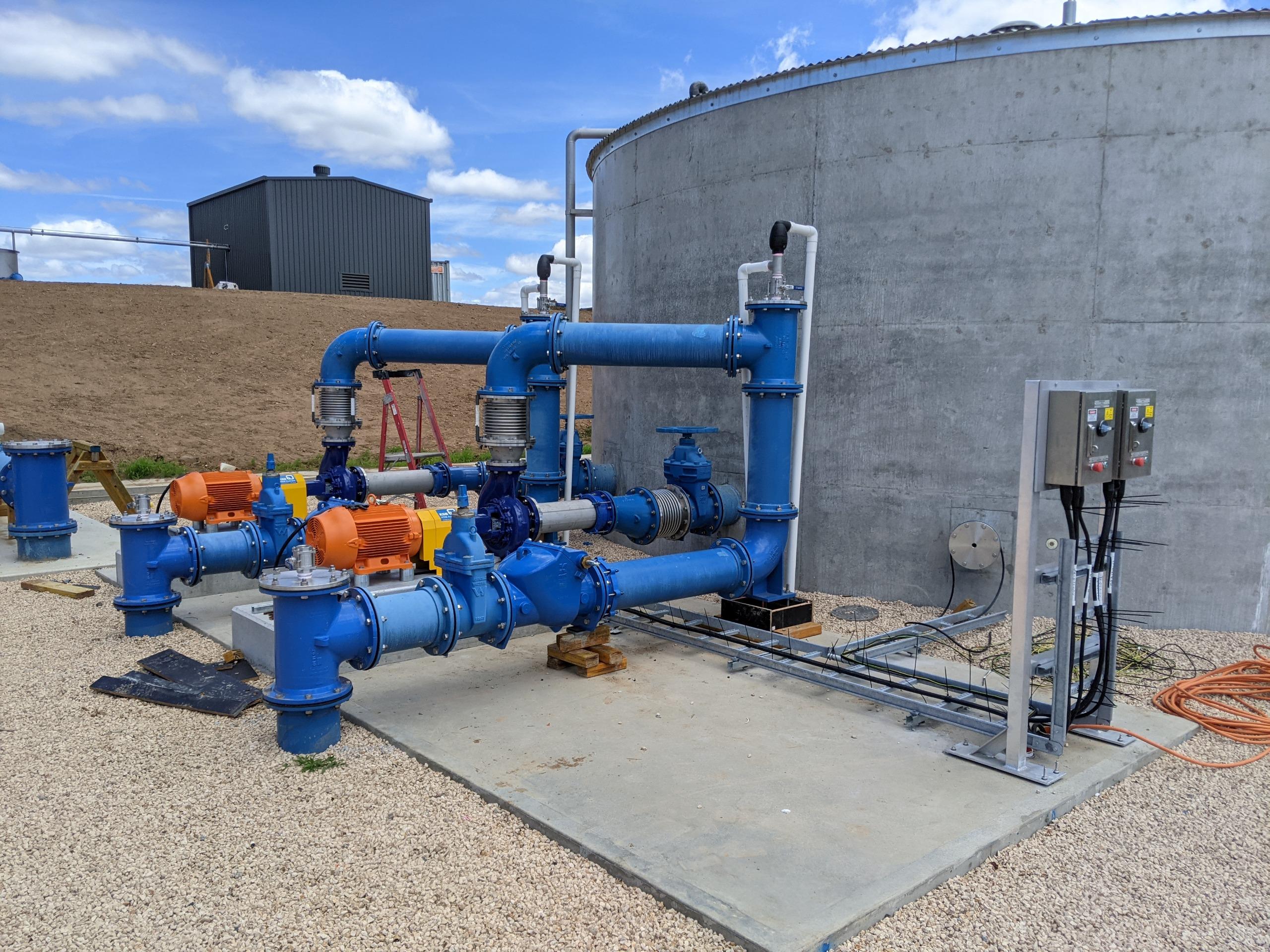 Backwash pump station