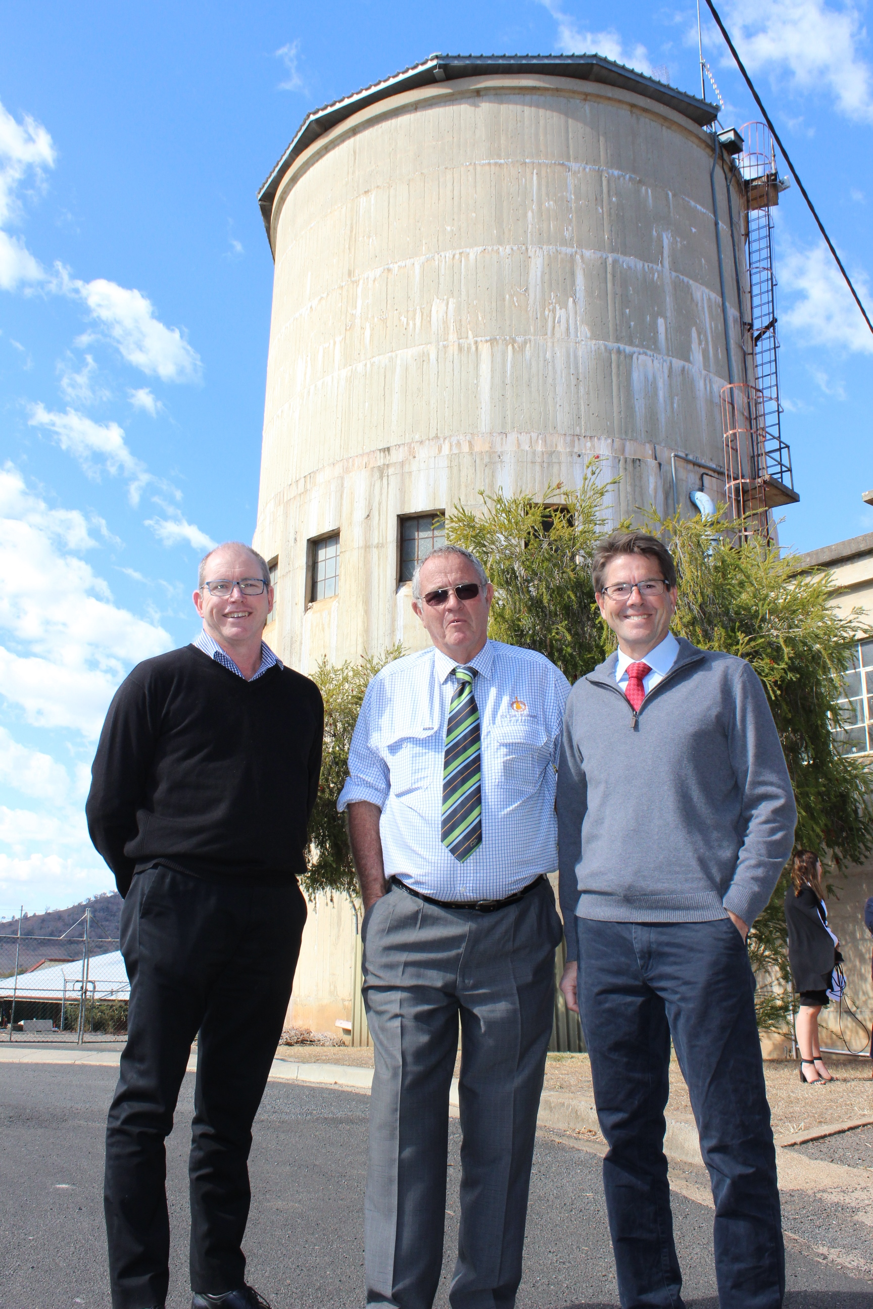 Director of Water & Waste, Cr Jim Maxwell and Kevin Anderson MP