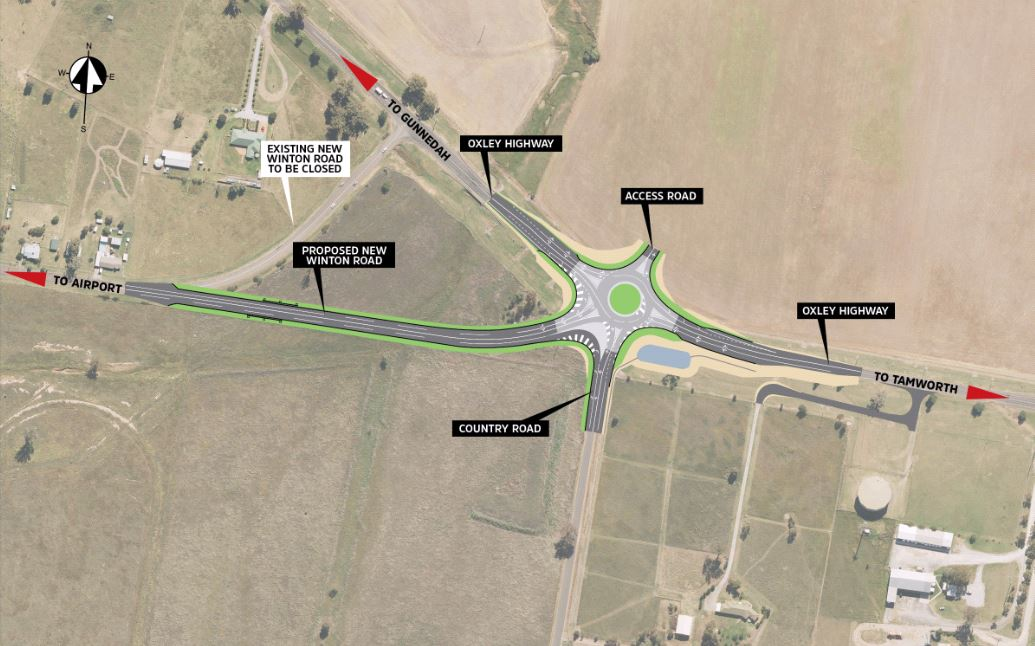 Country Road Roundabout map