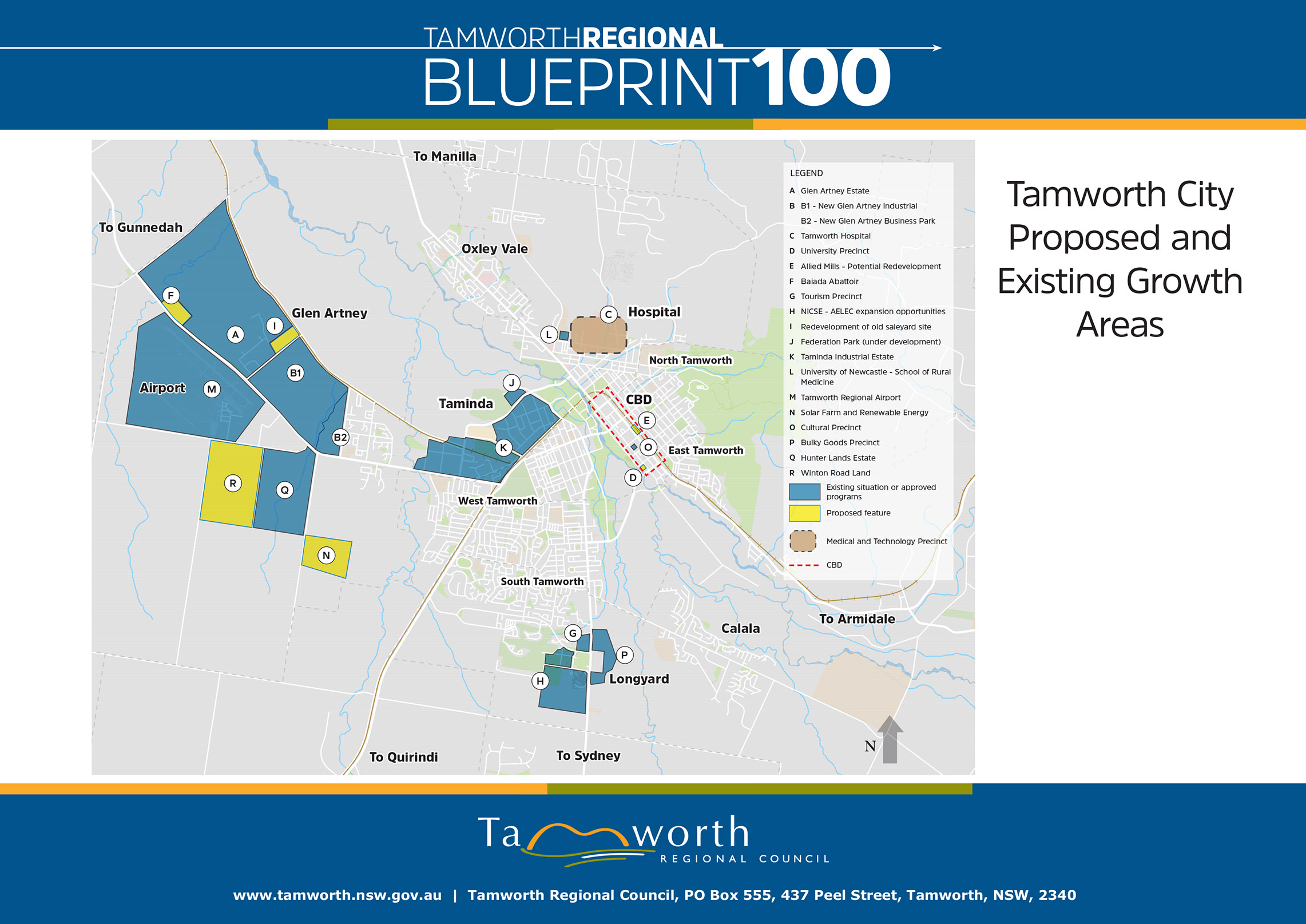 Tamworth City Proposed and Existing Growth Areas