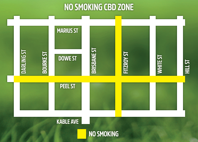 Map of the no-smoking area in the CBD