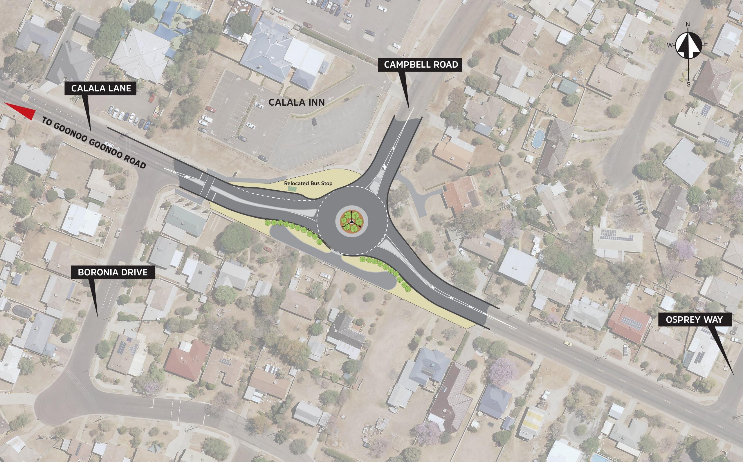 Calala Lane map