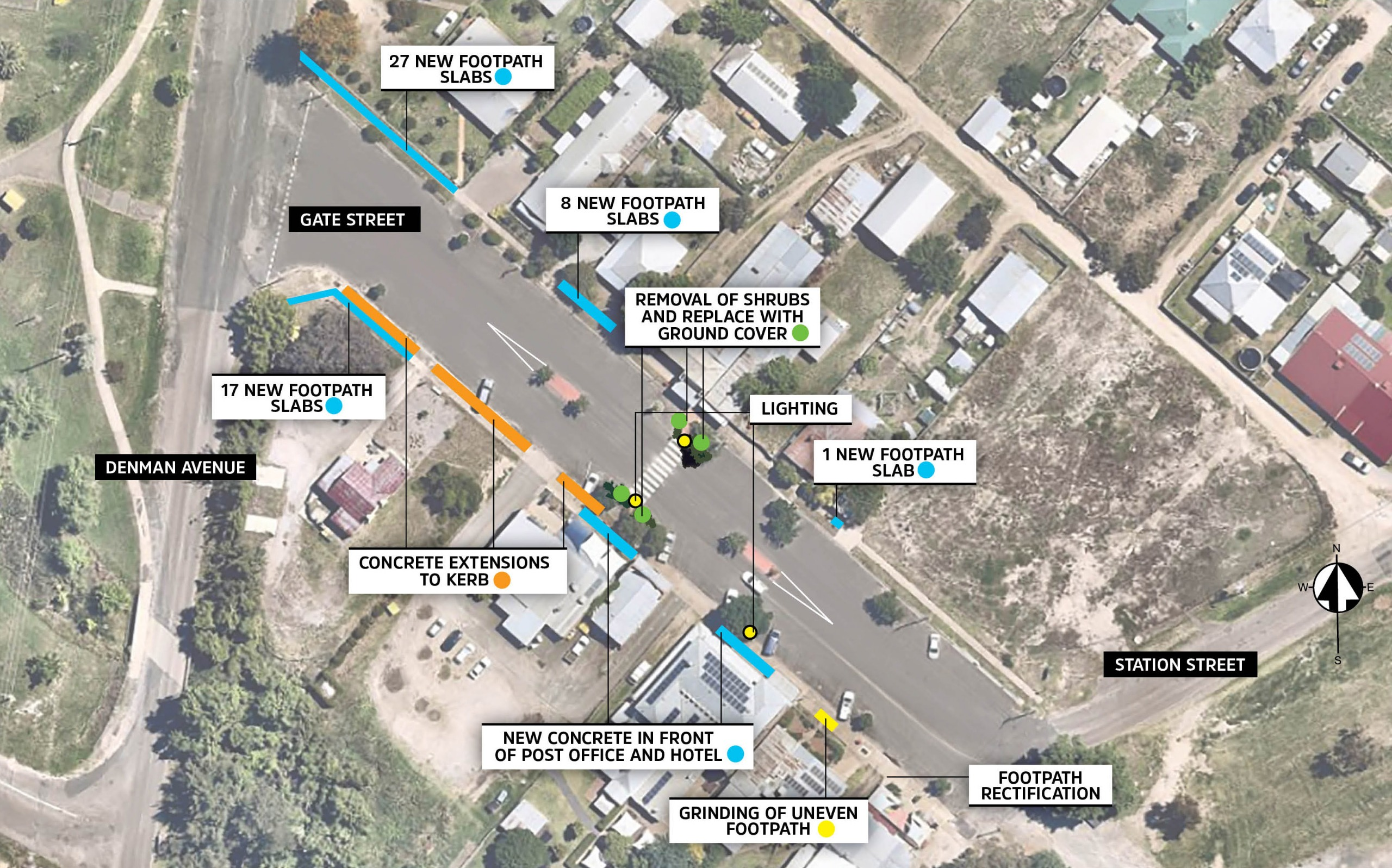 Kootingal main street map