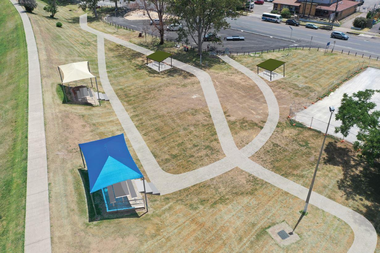 Concept design for the Peel Street picnic spot