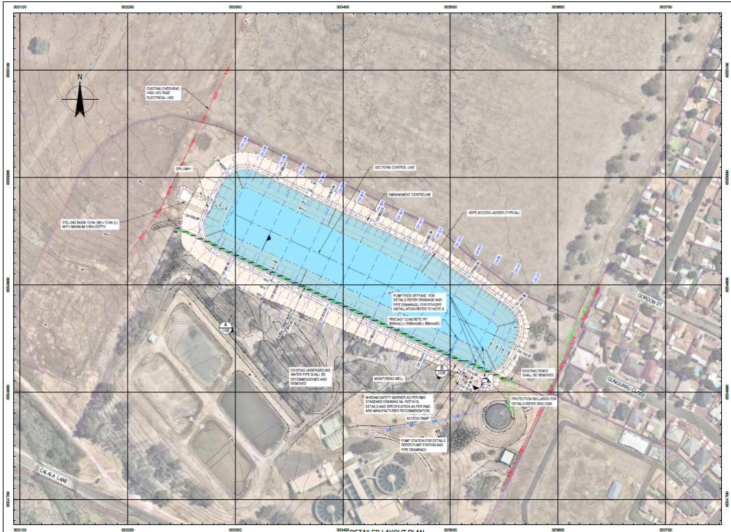 Calala Raw Water Storage Dam Layout Plan