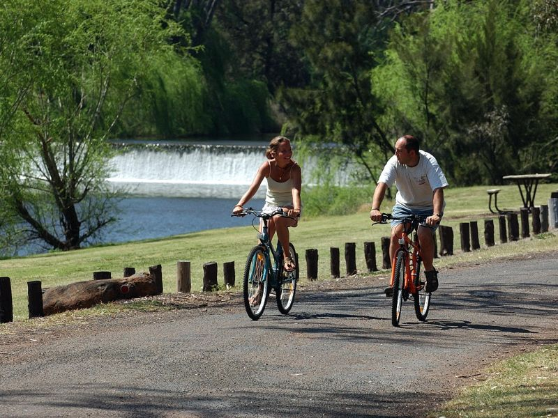 Bike riders in the park