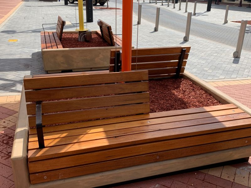Comfortable timber seating
