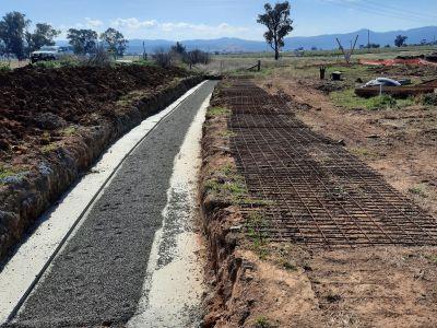 New winton road telstra protection slab construction