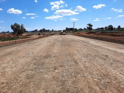 New winton road general fill complete east of 5 cell box culvert