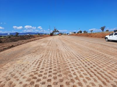 new winton road general fill works on new alignment