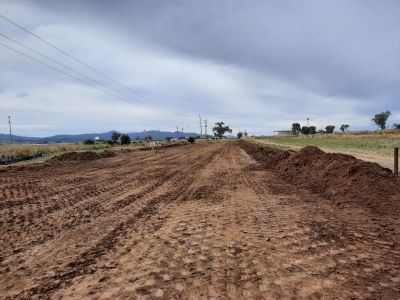 New winton road stripping top soil