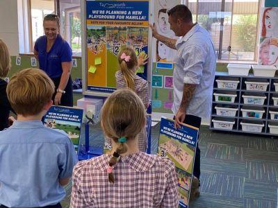 kids voting on design options