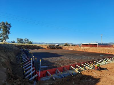 New winton road 5 cell box culvert base slab ready to pour