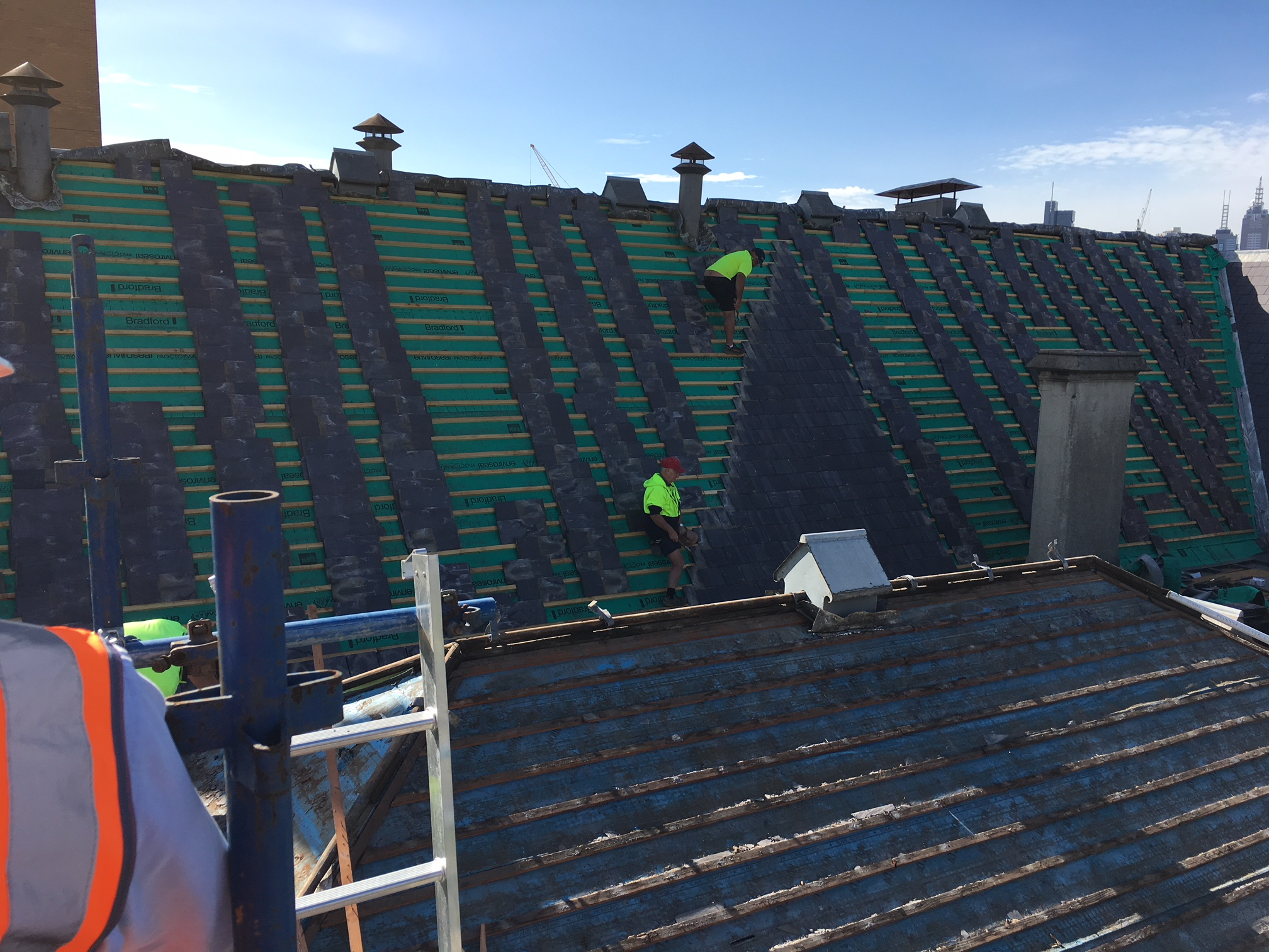 Upgrade to the existing slate roof to the Northern Annex