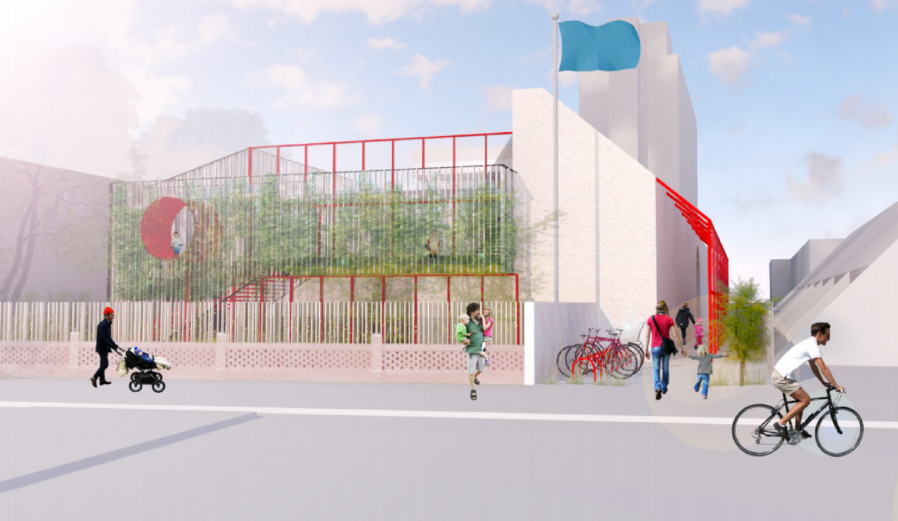 Artist impression of an aspirational design for the new centre