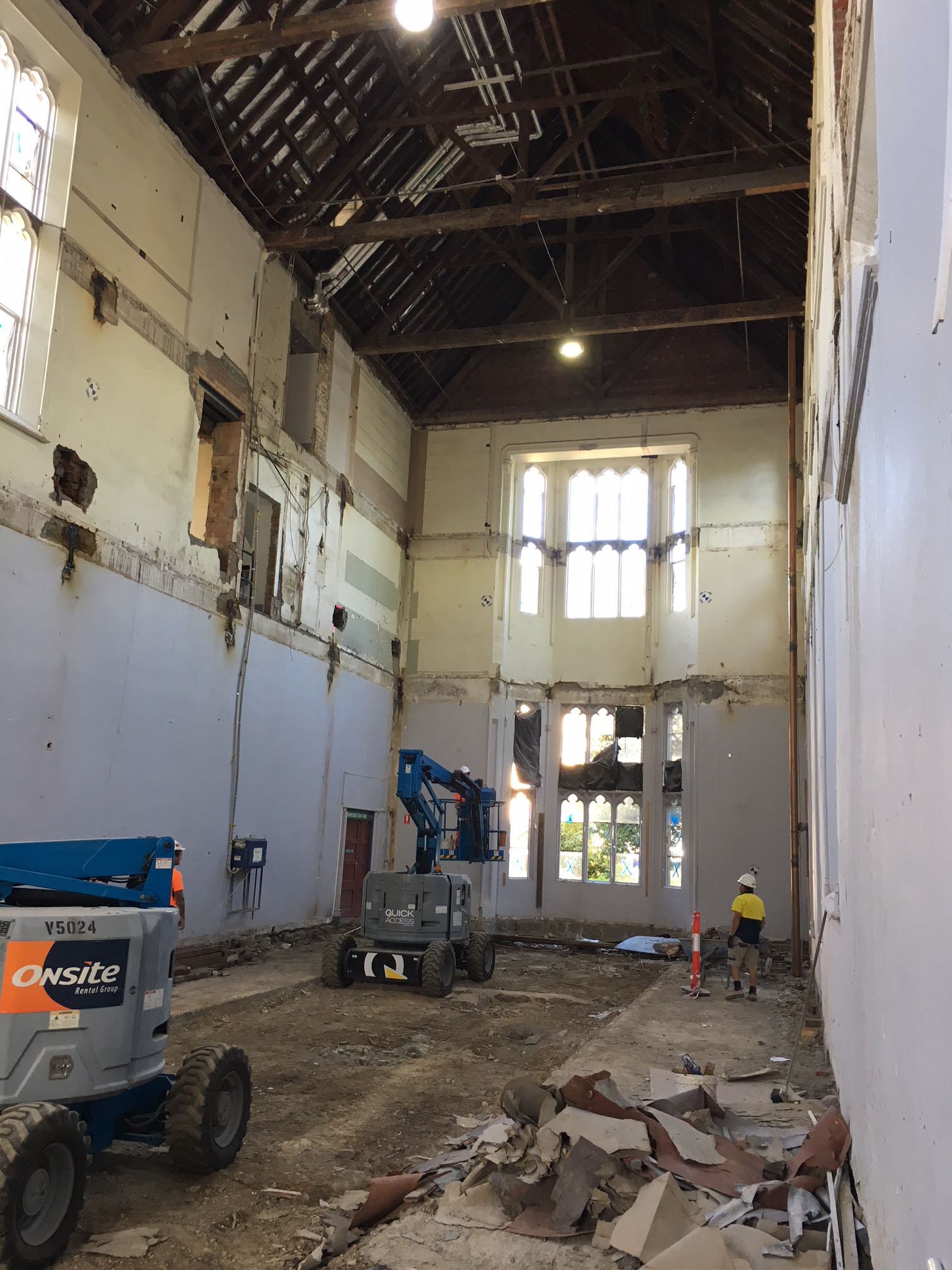 removal of the two floors