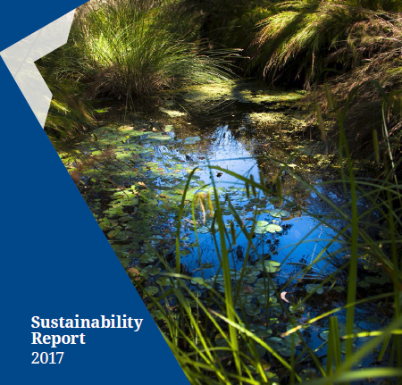 cover of 2017 sustainability report