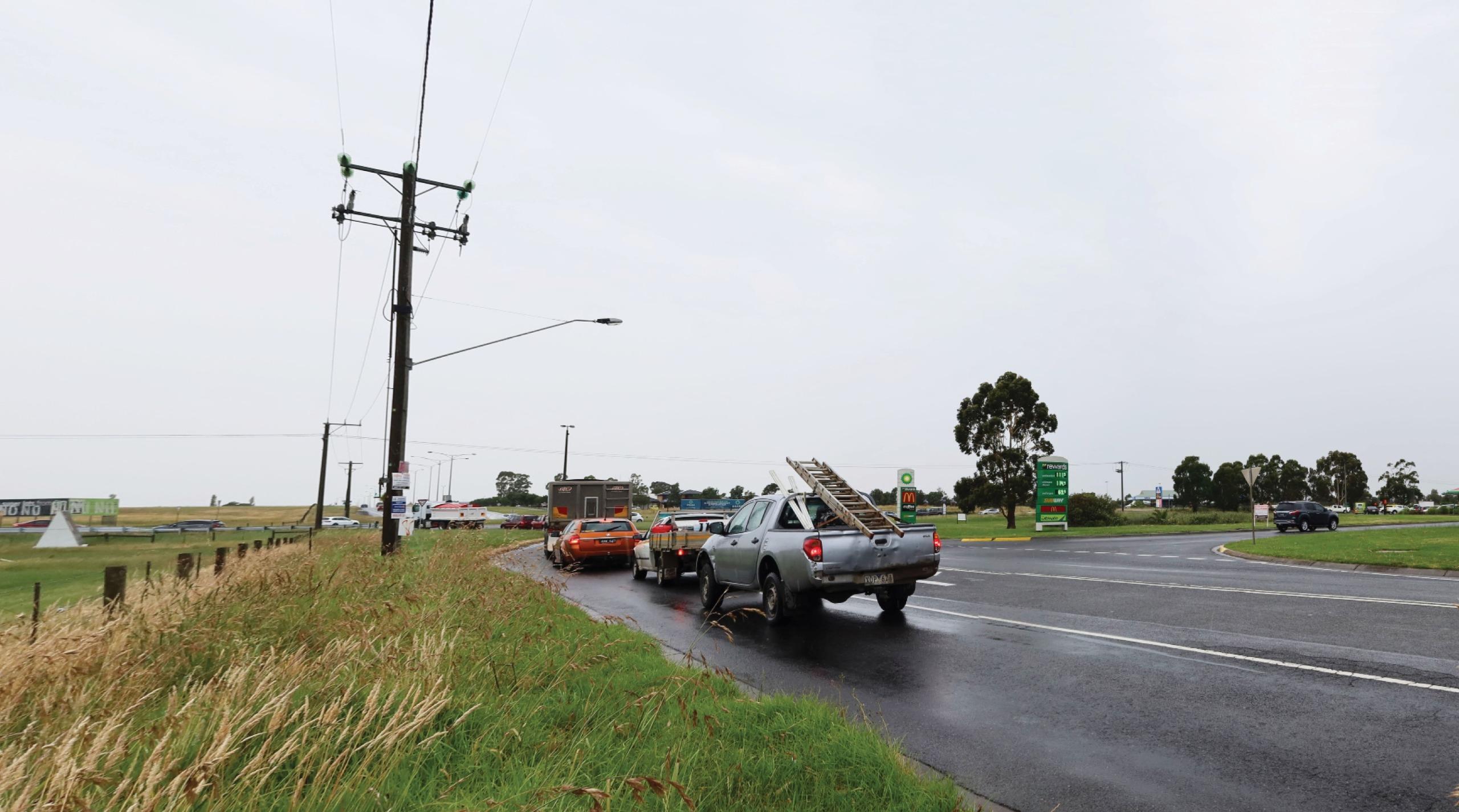 Existing Western Port Highway intersection from the road reserve