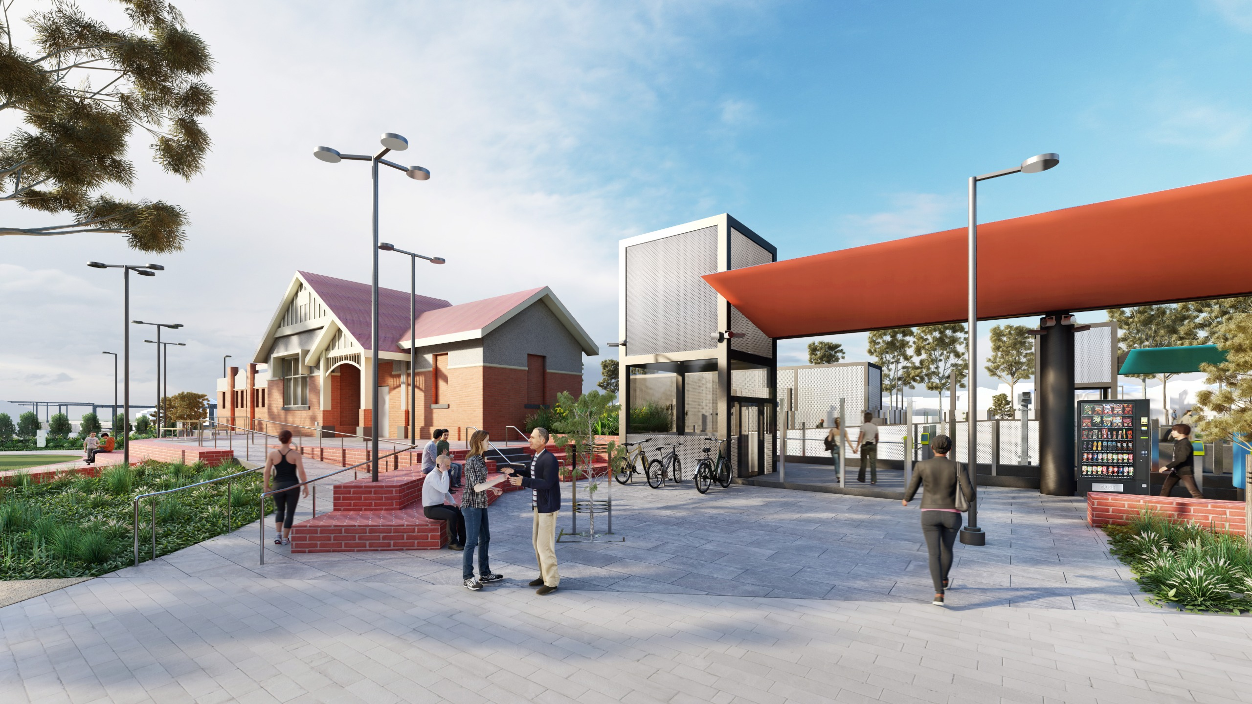 We will retain the western station building and use it for station purposed to minimise the need for additional buildings