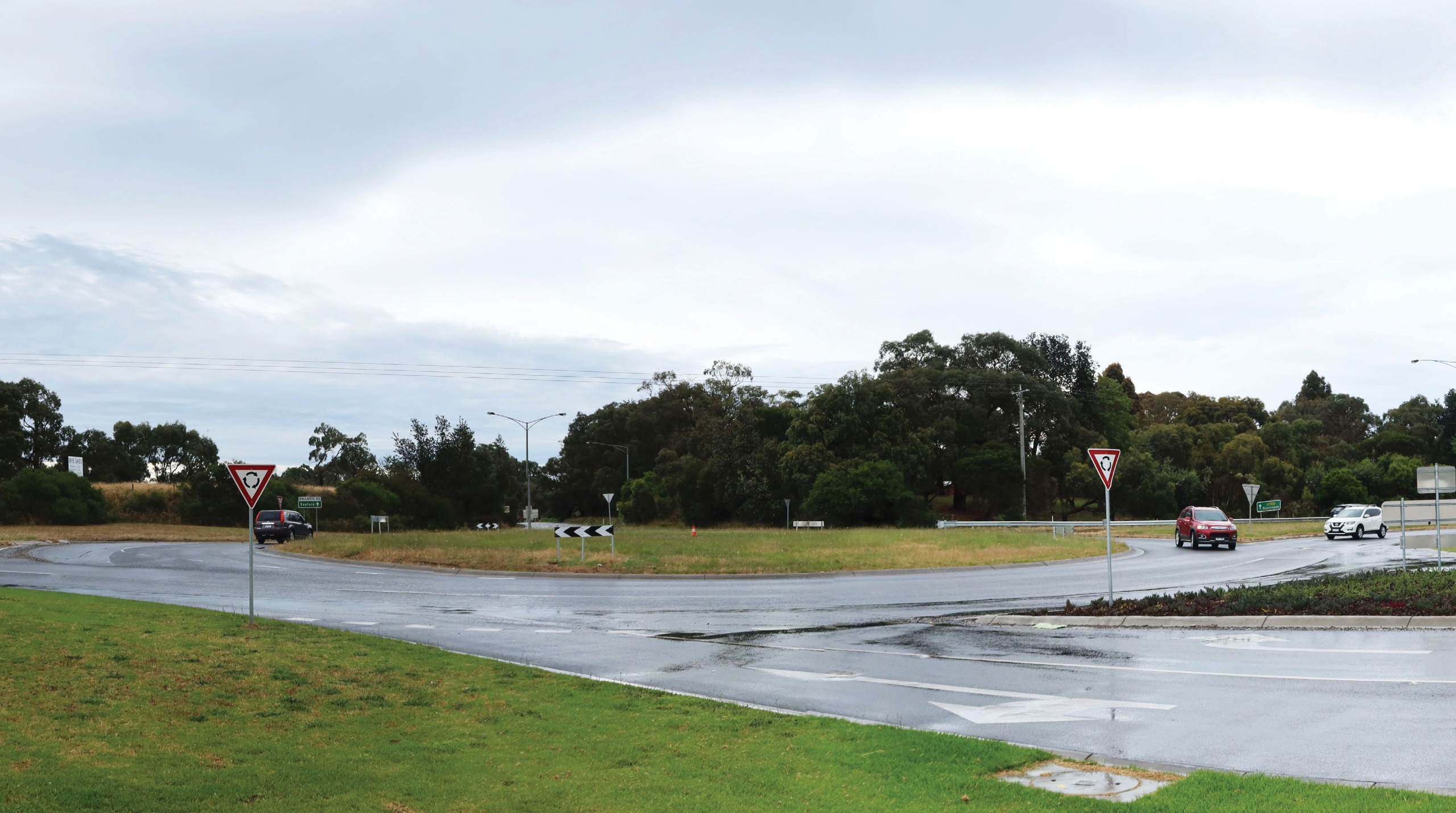 Existing Ballarto Road intersection from road reserve