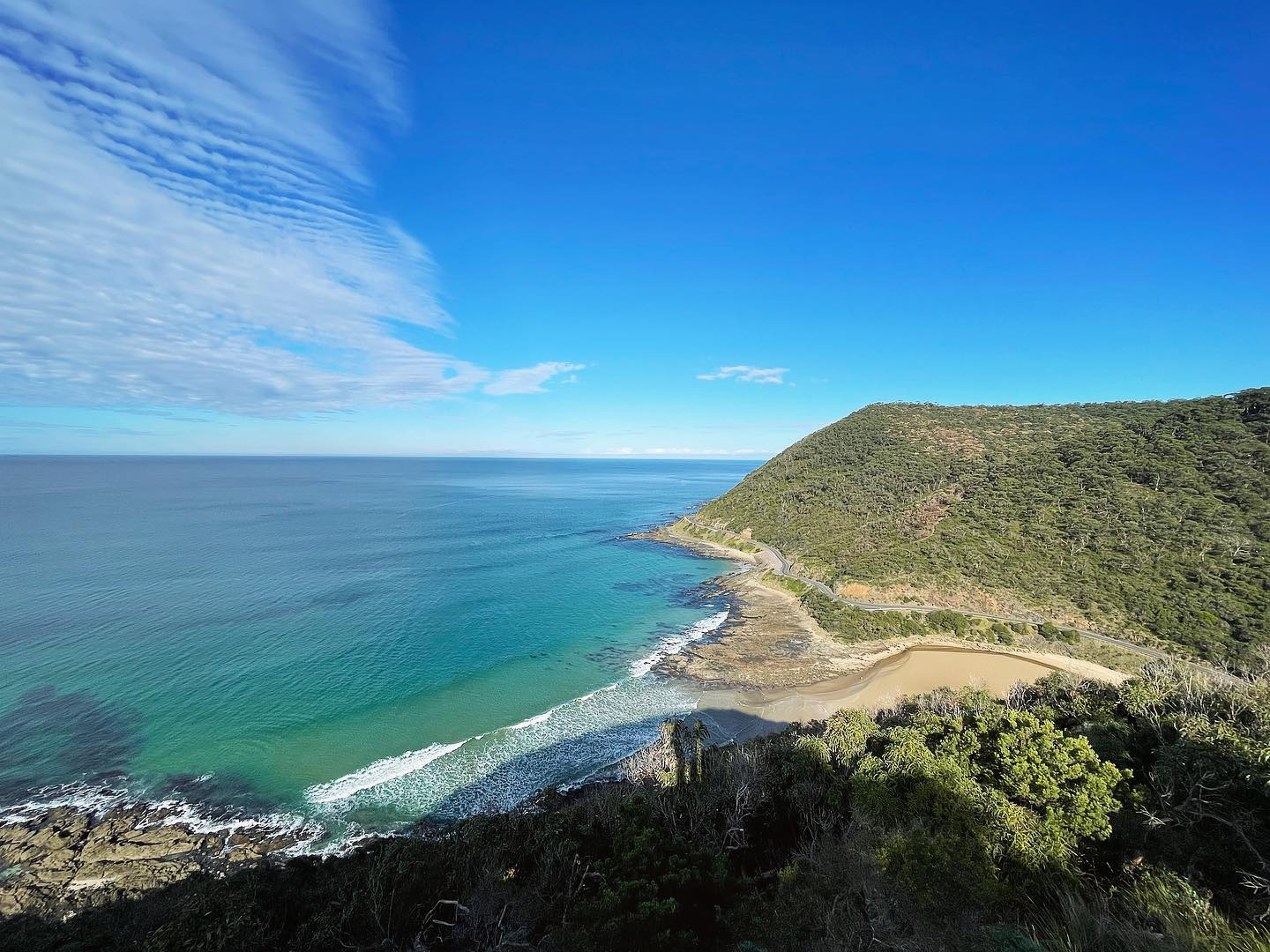 The Great Ocean Road from Teddy's Lookout