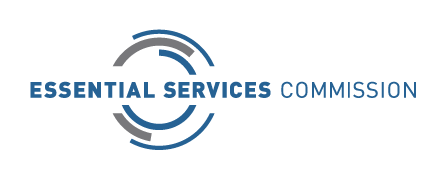 The logo of the Essential Services Commission.