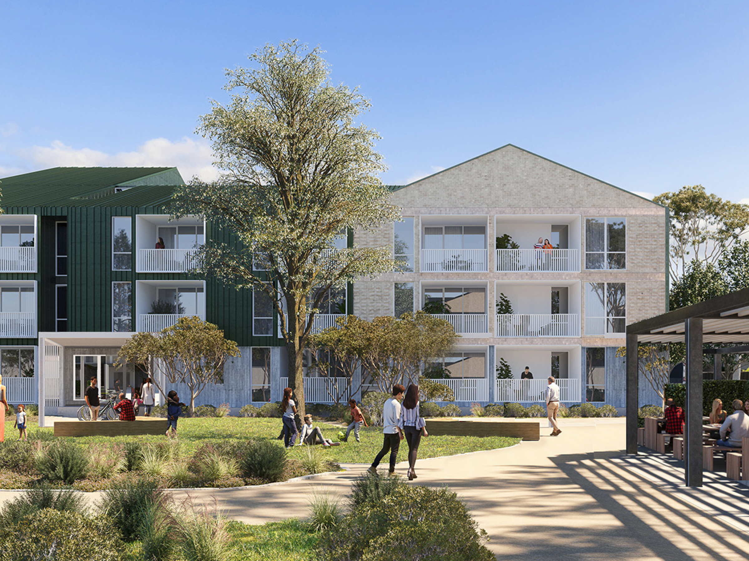 Artist impression looking at the new development from central park