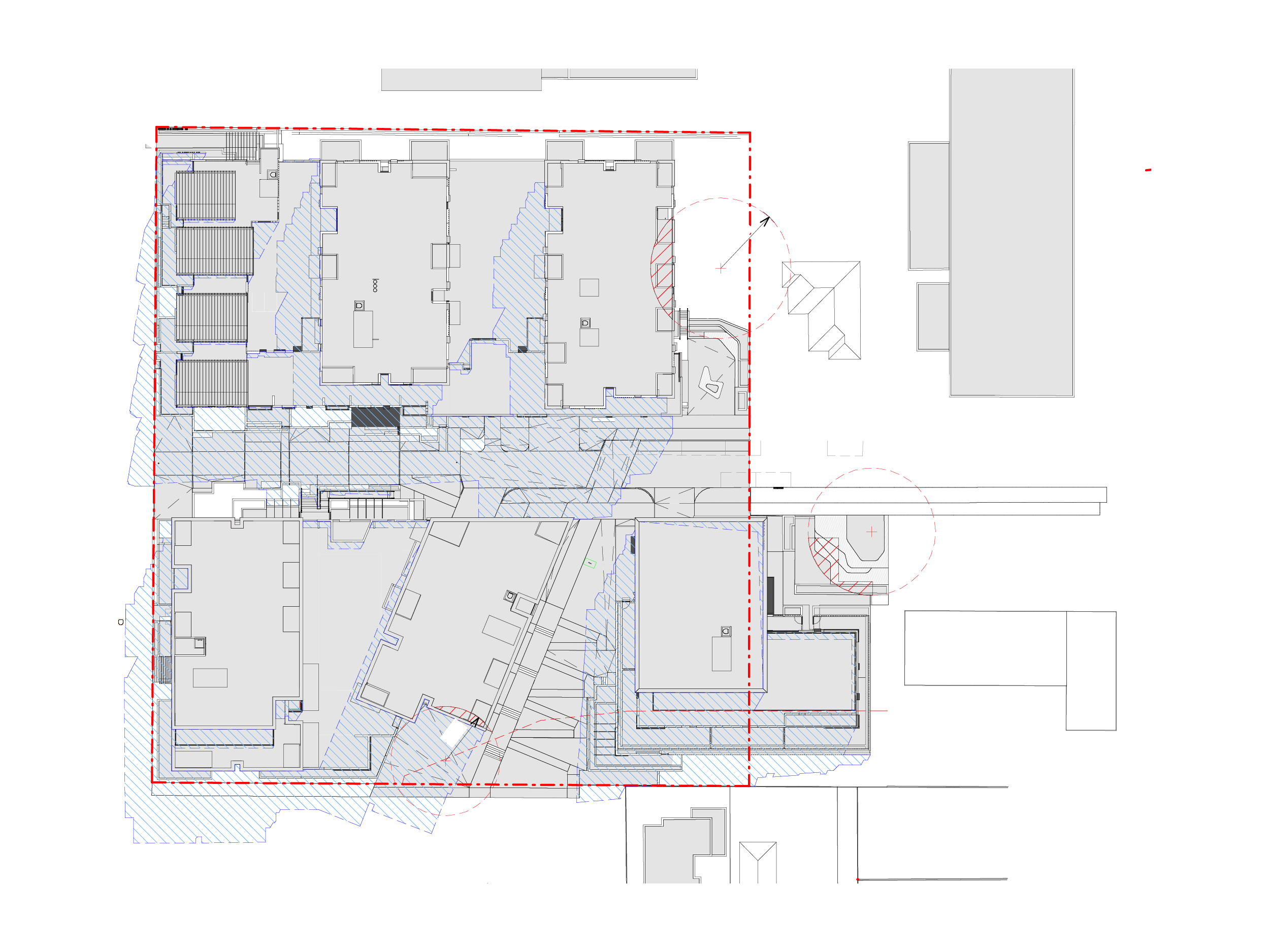 Diagram showing the shadows created by the new Bills Street development on 22 September at 11am