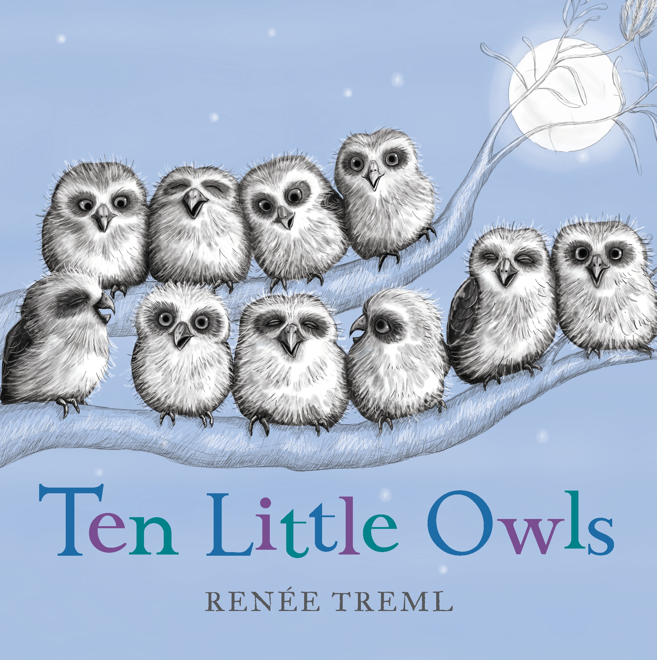 Ten little owls book cover