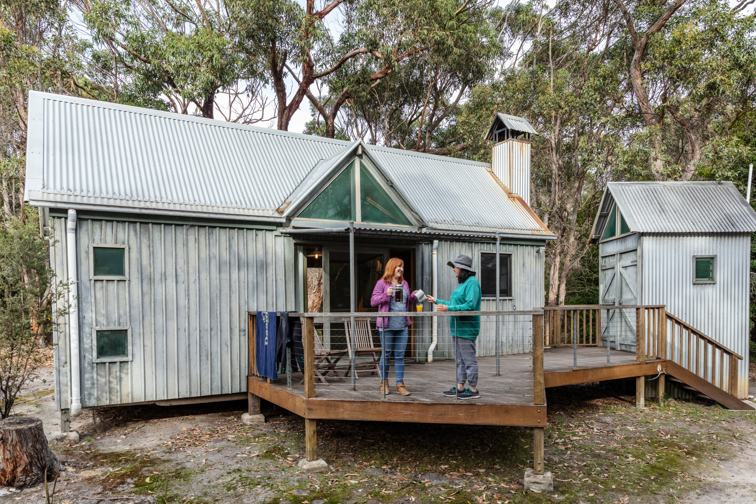 Image of previous cabins at Cape Conran that were burnt down in the 2019/20 fires