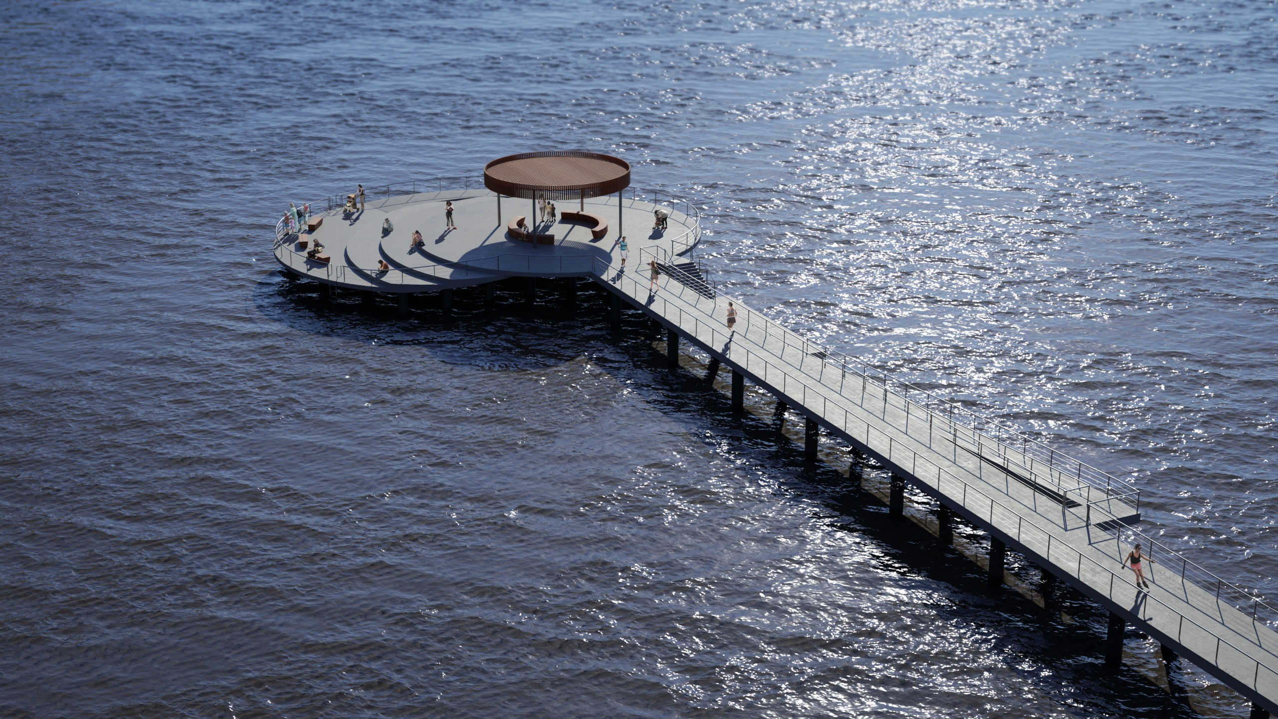 Option Three: Circular-shape Pier Head