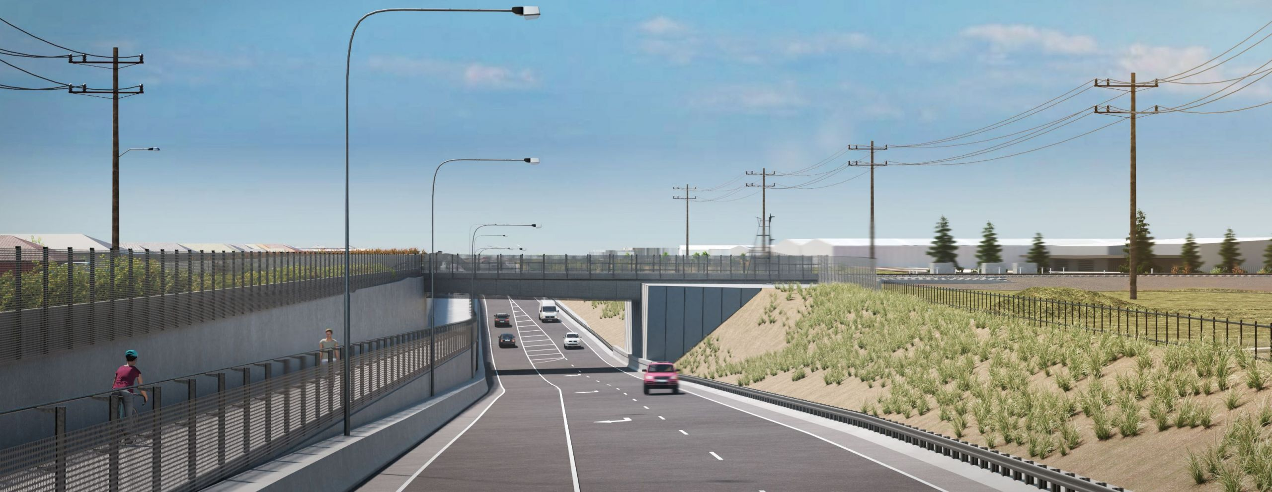 New Robinsons Road underpass, Deer Park – looking south
