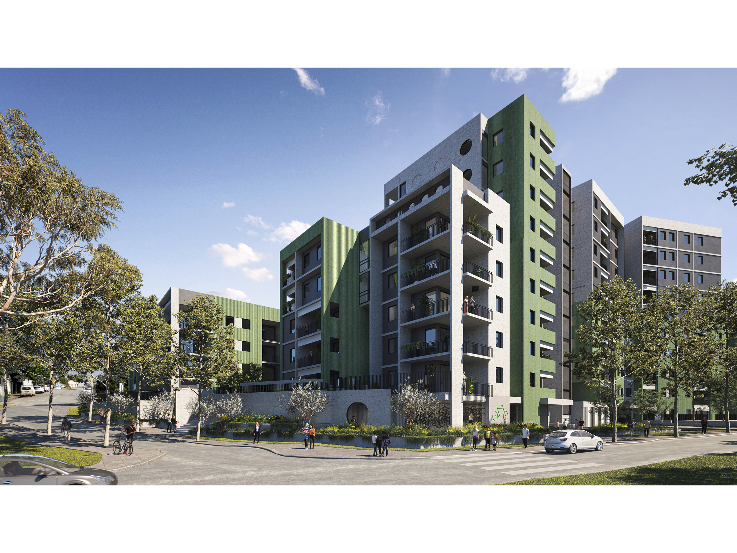 Artist impression showing the new development from New Holland Crescent looking north