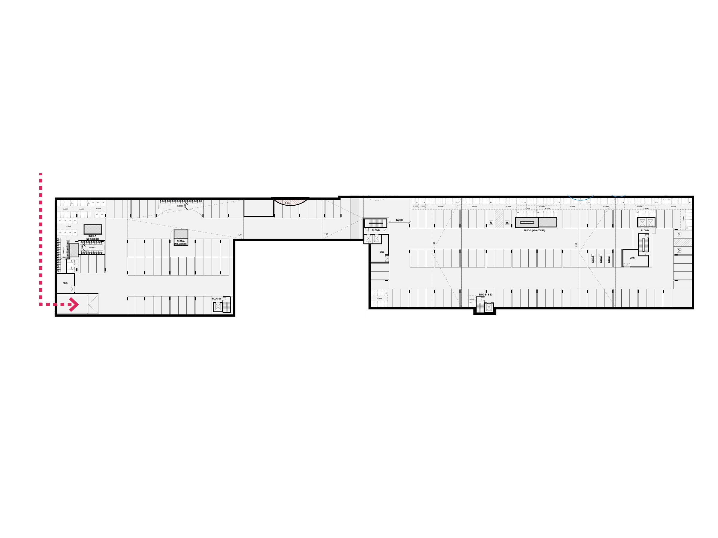 Diagram showing the parking facilities on basement level 2