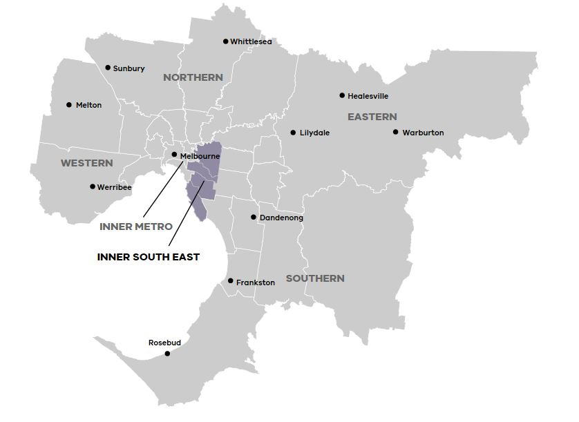 Map of Inner South East Region