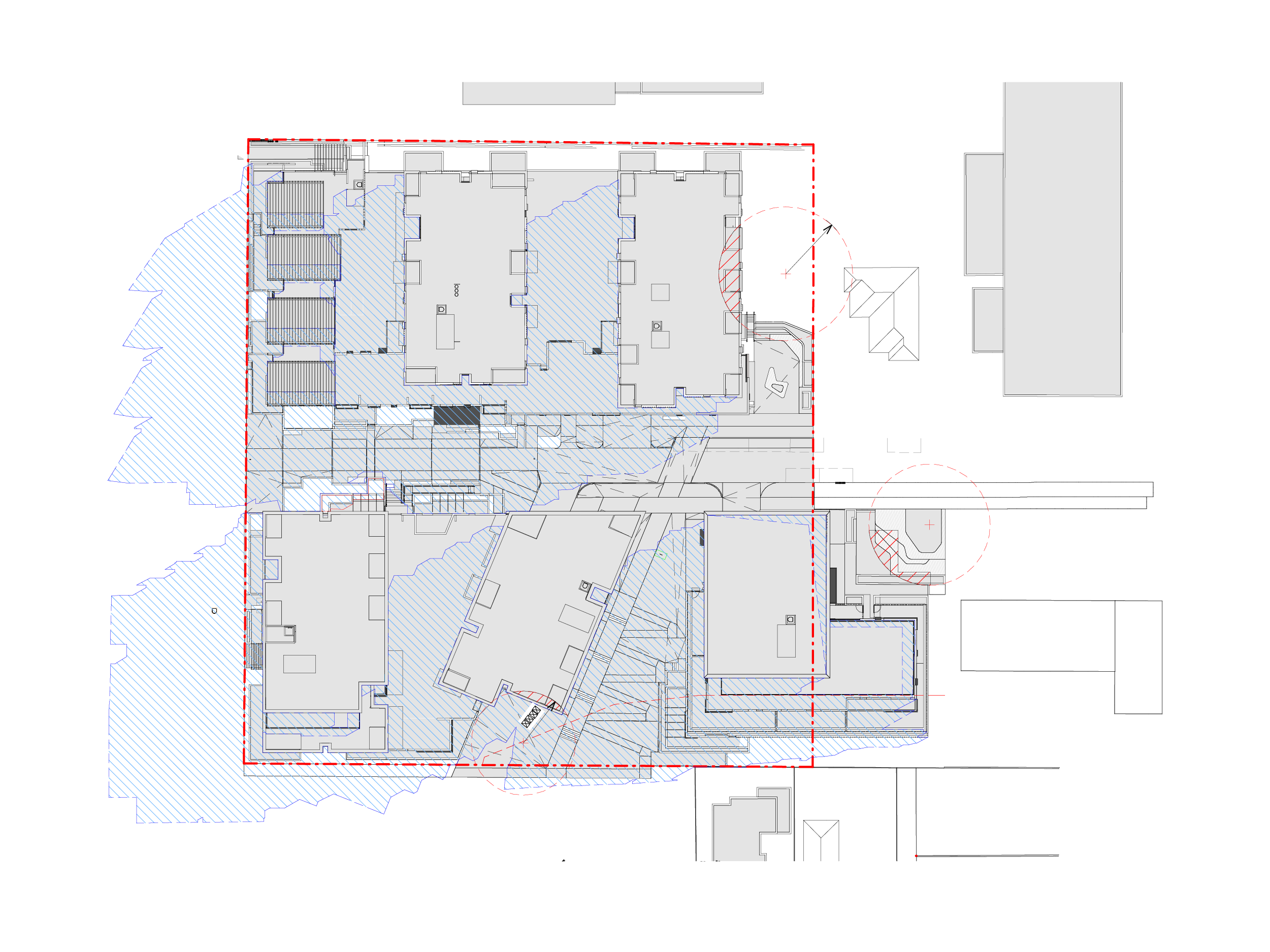 Diagram showing the shadows created by the new Bills Street development on 22 September at 9am