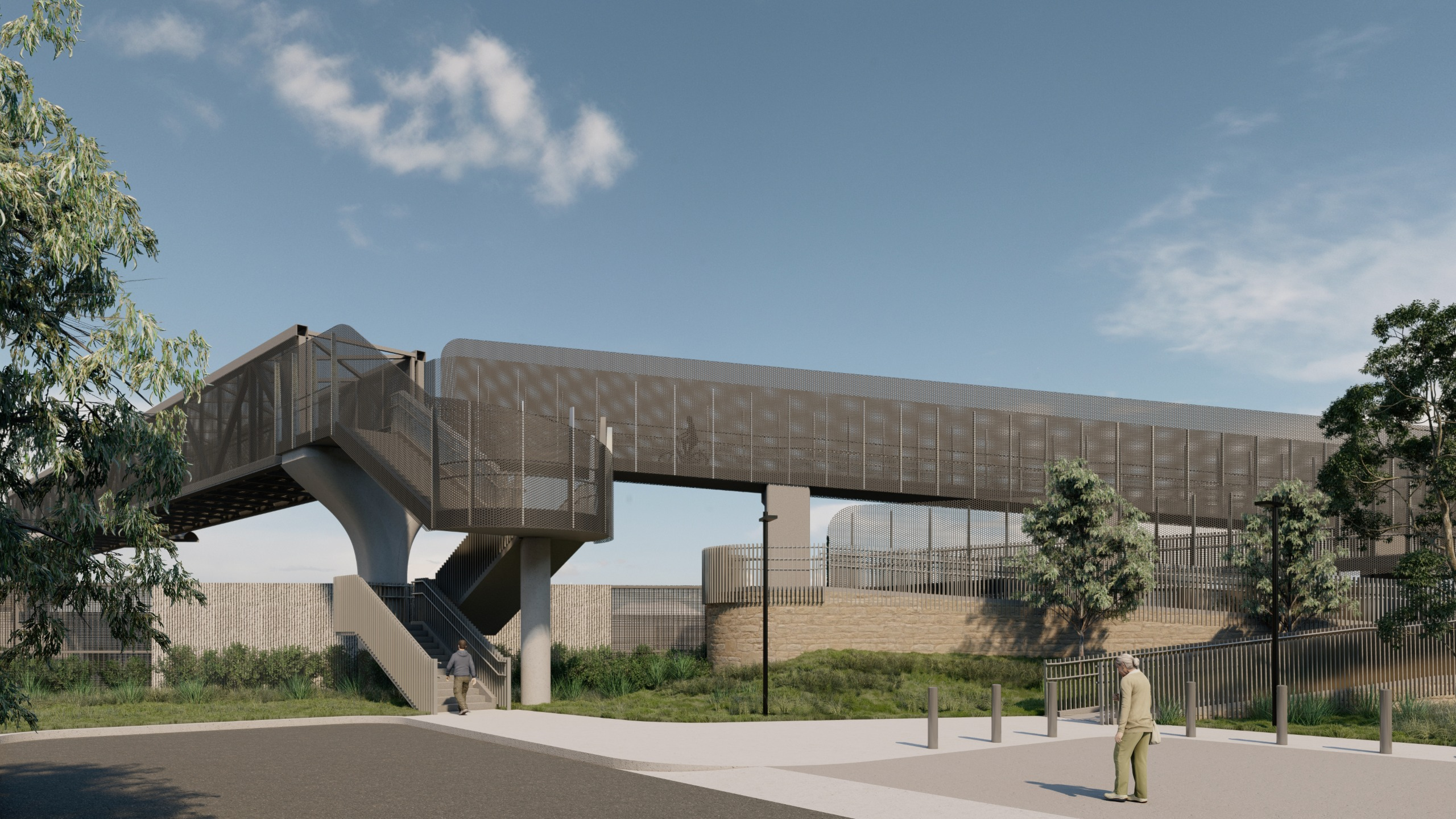 Proposed shared use overpass in Sunshine North render