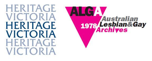 Logo for Heritage Victoria and the Australian Lesbian and Gay Archives